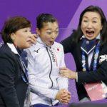 平昌オリンピック、フィギュアスケート女子ショート、坂本花織選手応援しています。