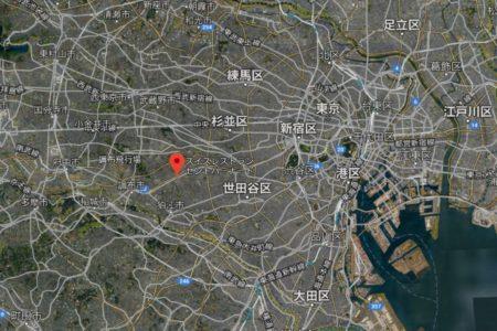 調布市仙川の位置がわかるGoogleマップ