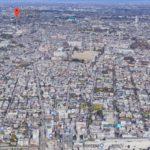 成城学園前駅から眺めた地図です。
