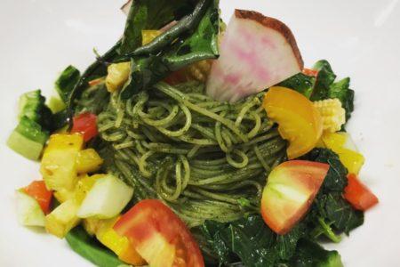 鎌倉野菜の冷製カッペリーニ ジェノバ風です!