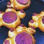 紫色の 自家製パン